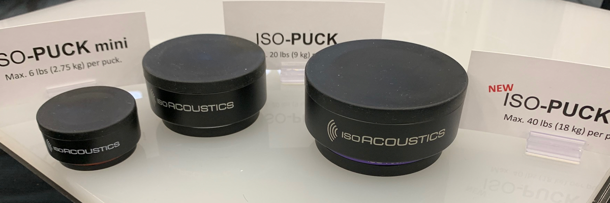 IsoAcoustics' ISO-Puck 76 was released at NAMM, boasting an 18kg weight limit