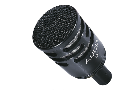 Audix D6 kick drum microphone, available to win at the London Drum Show 2018