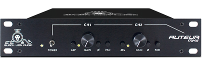 Black Lion Audio Auteur MkII dual channel preamp