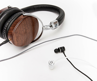 The Even headphone range (left to right: H1 over-ear, E1 in-ear)
