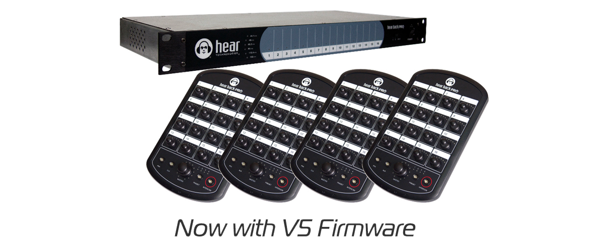 The Hear Back PRO Four-Pack personal monitoring bundle, now with Hear Technologies' V5 firmware