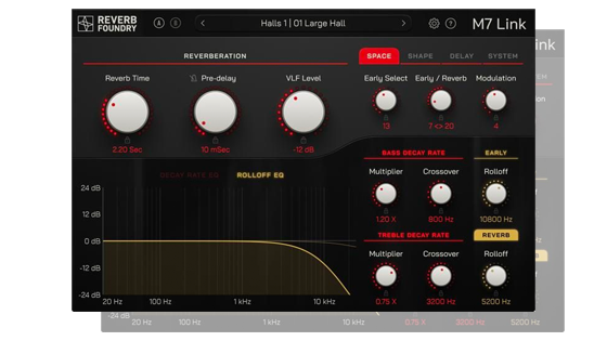 Reverb Foundry's M7 Link plugin, for integration with Bricasti M7 studio reverbs
