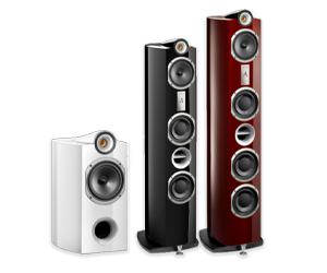 Signature loudspeaker range from Triangle (from left to right: Theta, Alpha and Delta)